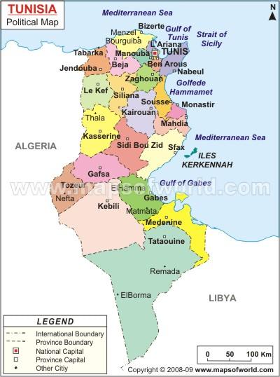 Tunisko Blog Archive Mapy Tuniska Ke Stazeni I Pro Tisk